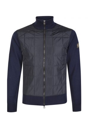 Belstaff Men's Kelby Zip Cardigan Washed Navy