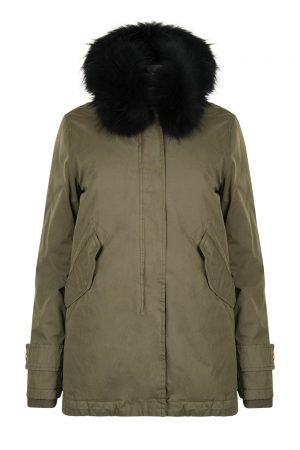 Aktual Women's Madame Parka Coat Khaki