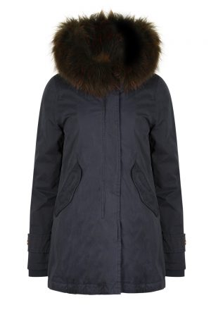 Aktual Women's Madame Parka Coat Navy
