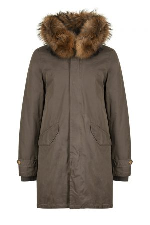 Aktual Men's King Parka Coat Khaki