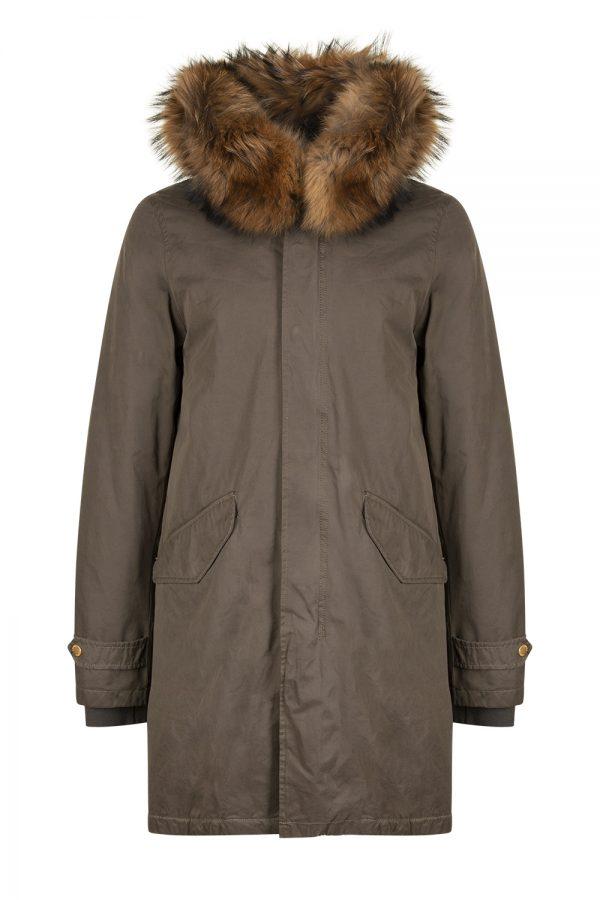 Aktual Men's King Parka Coat Khaki