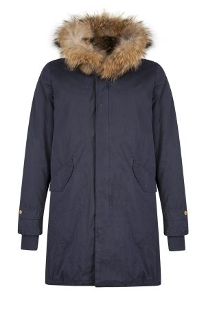 Aktual Men's King Parka Coat Navy