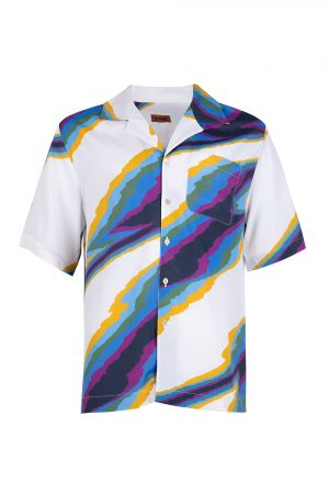 Missoni Men's Pattern Shirt White - New S20 Collection