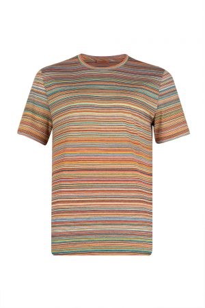 Missoni Men's Horizontal Stripe T-shirt Orange - New S20 Collection