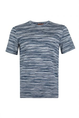 Missoni Men's Horizontal Stripe T-shirt Navy - New S20 Collection