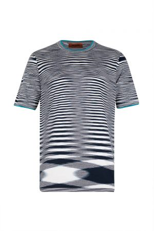 Missoni Men's Crew Neck T-shirt Navy - New S20 Collection