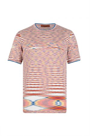 Missoni Men's Crew Neck T-shirt Orange - New S20 Collection