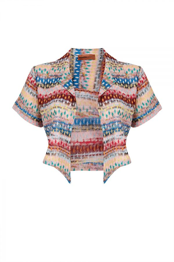 Missoni Mare Glitter Striped Lace Knitted Shorts - New S20 Collection