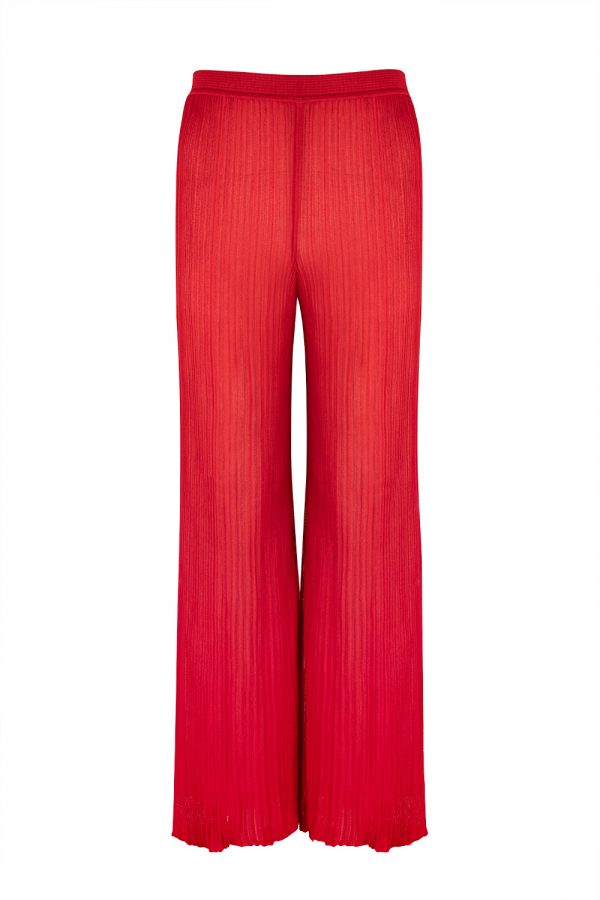 Missoni Women's High Rise Long Trousers Red - New S20 Collection