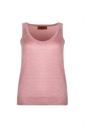 Missoni Women's Glitter Weave Vest Top Pink - New S20 Collection