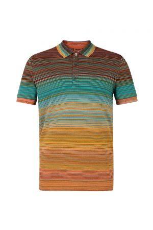 Missoni Men's Short Polo Shirt Orange - New S20 Collection