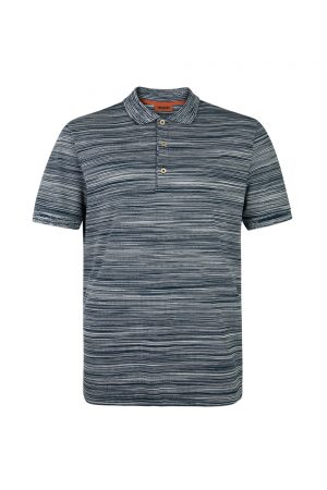 Missoni Men's Short Polo Shirt Navy - New S20 Collection