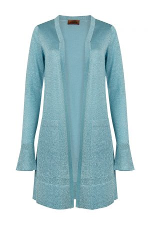 Missoni Women's Glitter Cardigan Turquoise Blue - New S20 Collection