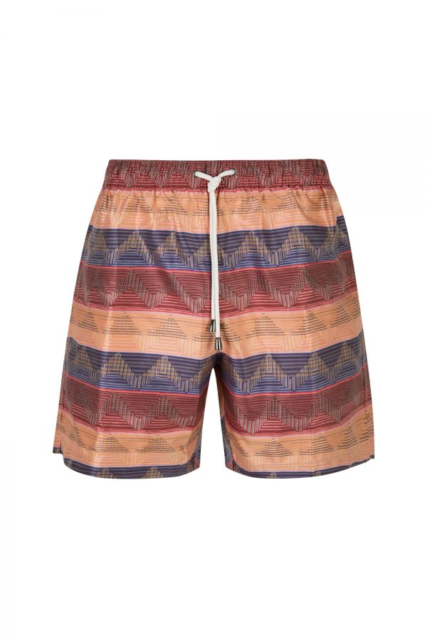 Missoni Men's Wave Pattern Swim Shorts Pink - New S20 Collection