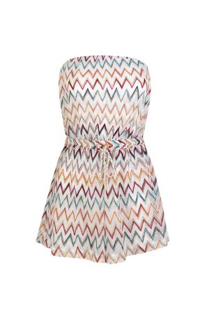 Missoni Women's Strapless Zig Zag Playsuit - New S20 Collection