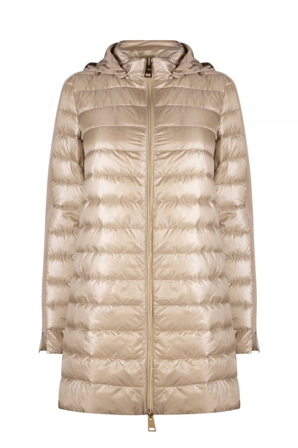 Herno Women's Side Stripe Quilted Jacket Beige