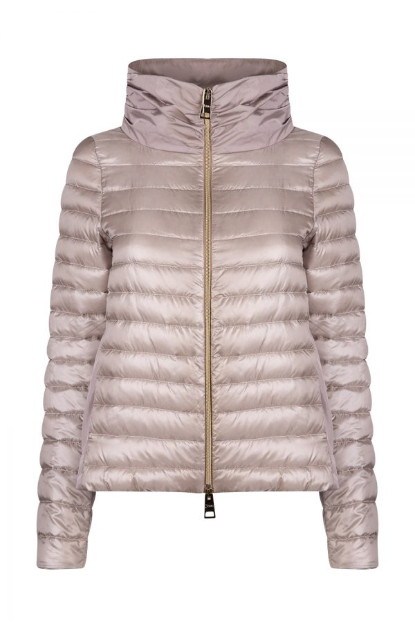 Herno Ladies Panel Quilted Jacket Pink