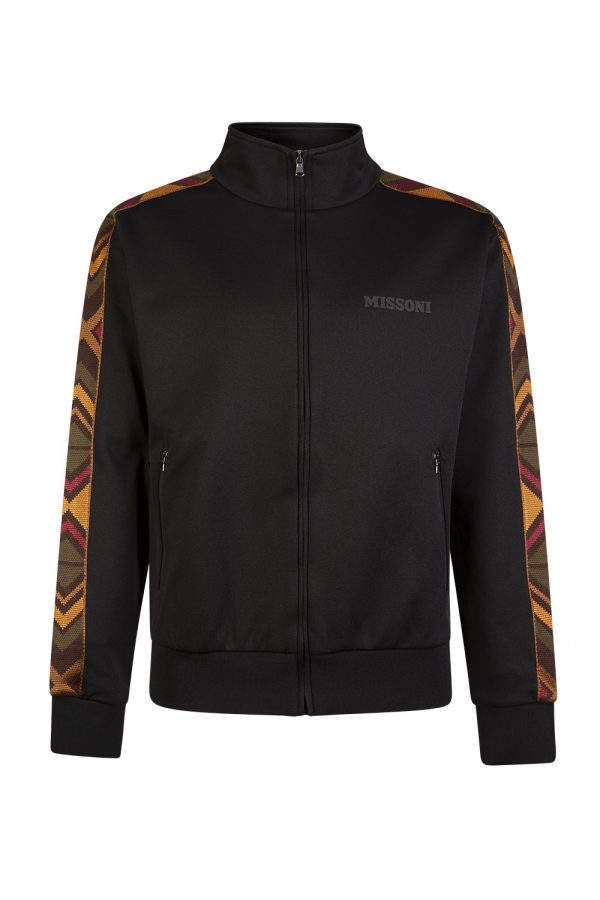 Missoni Men's Chevron Trim Track Jacket Black