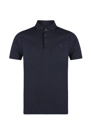 Gran Sasso Stretch Jersey Polo Shirt Navy