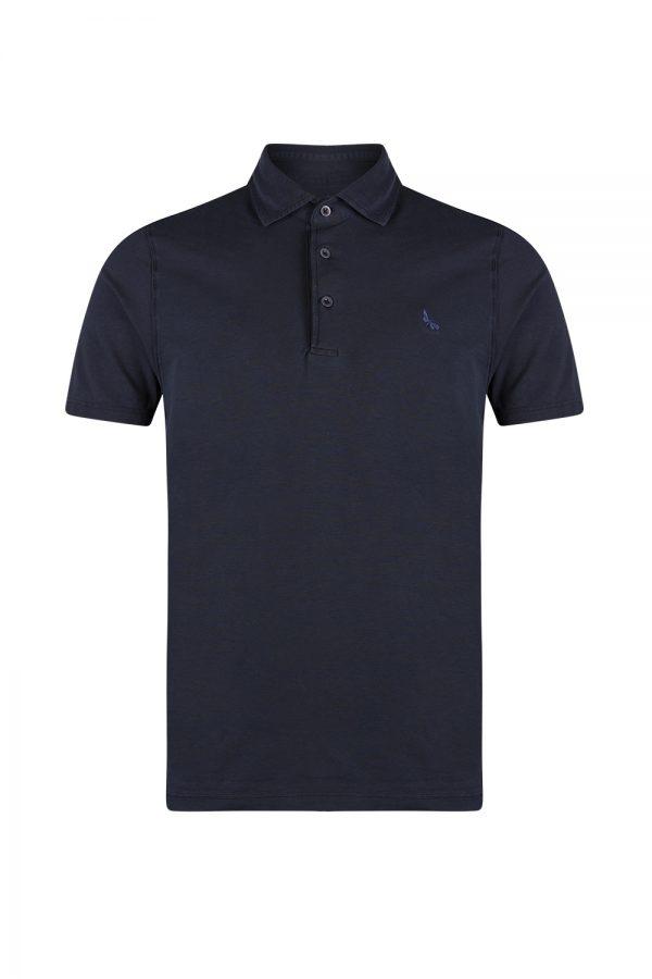 Gran Sasso Stretch Jersey Polo Shirt Navy