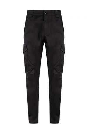 C.P. Company Men's Slim-fit Cargo Pants Black