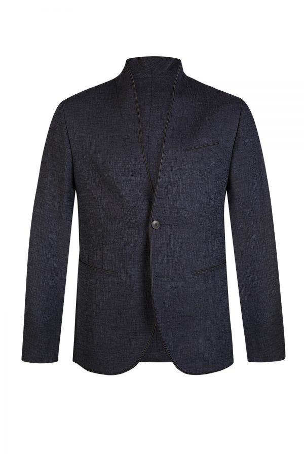 John Varvatos Men's Shawl Collar Jacket Navy