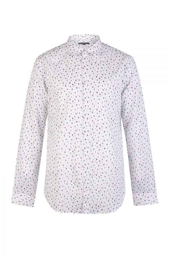 John Varvatos Abstract Print Shirt White