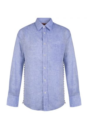 Missoni Men's Sideline Stitch Long Sleeve Shirt Blue