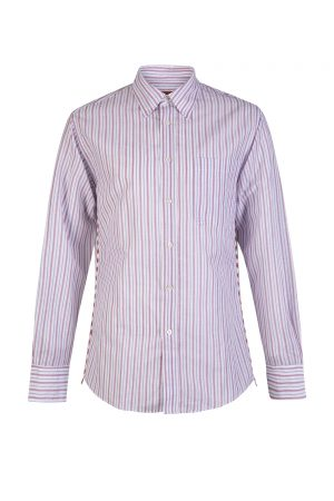 Missoni Men's Striped Long Sleeve Shirt Pink