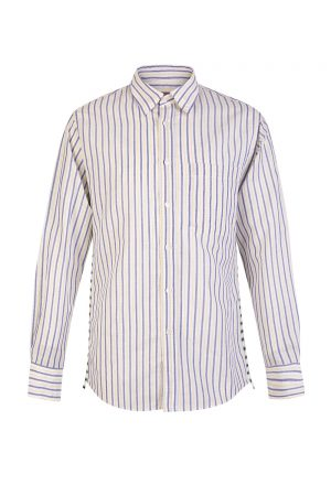 Missoni Men's Striped Long Sleeve Shirt Blue/Yellow