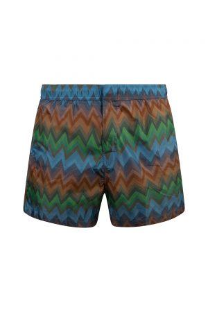 Missoni Mare Men's Zig Zag Swim Shorts Blue - New S20 Collection