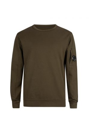 C.P. Company Men's Goggle Lens Sweatshirt Khaki - New S20 Collection
