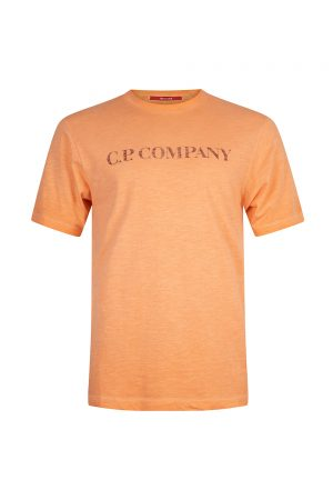 C.P. Company Re-Colour Malfilé Jersey Faded Logo T-Shirt Orange - New S20 Collection