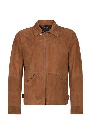 Belstaff Men's Cooper Suede Jacket Light Brown - New S20 Collection
