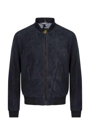 Belstaff Men's Harbour Suede Jacket Dark Ink - New S20 Collection
