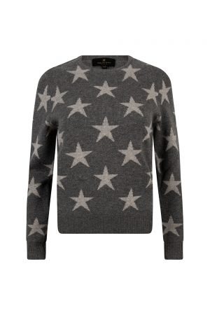 Belstaff Women's Star Crew Neck Jumper Grey