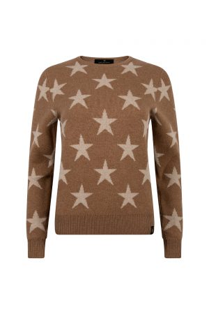 Belstaff Women's Star Crew Neck Jumper Brown - New S20 Collection