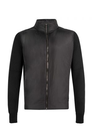 Belstaff Men's Abbott Zip Up Cardigan Black - New S20 Collection