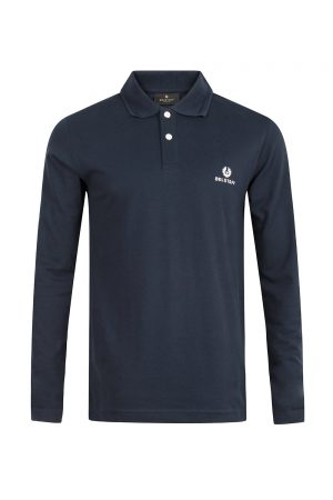 Belstaff Men's long Sleeve Polo Shirt Navy - New S20 Collection