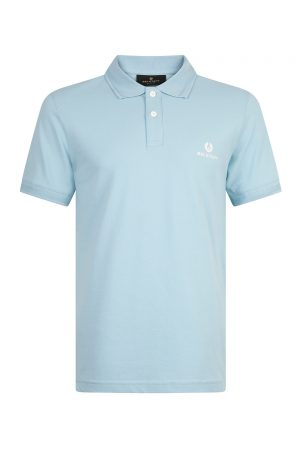 Belstaff Men's Short Sleeve Polo Shirt Sky Blue - New S20 Collection