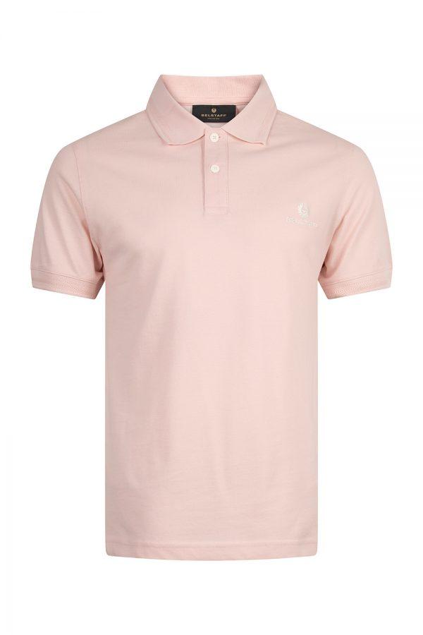 Belstaff Men's Short Sleeve Polo Shirt Pink - New S20 Collection
