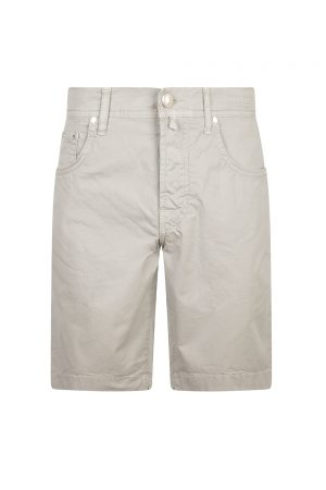 Jacob Cohën J6636 Slim Fit Men's Luxury Bermuda Shorts Light Grey