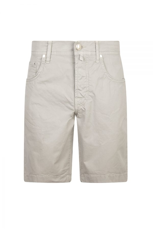 Jacob Cohën J6636 Slim Fit Men's Luxury Bermuda Shorts Light Grey