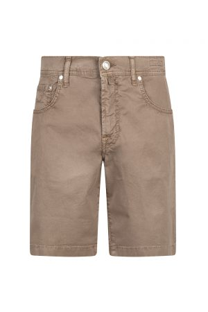 Jacob Cohën J6636 Slim Fit Men's Luxury Bermuda Shorts Brown
