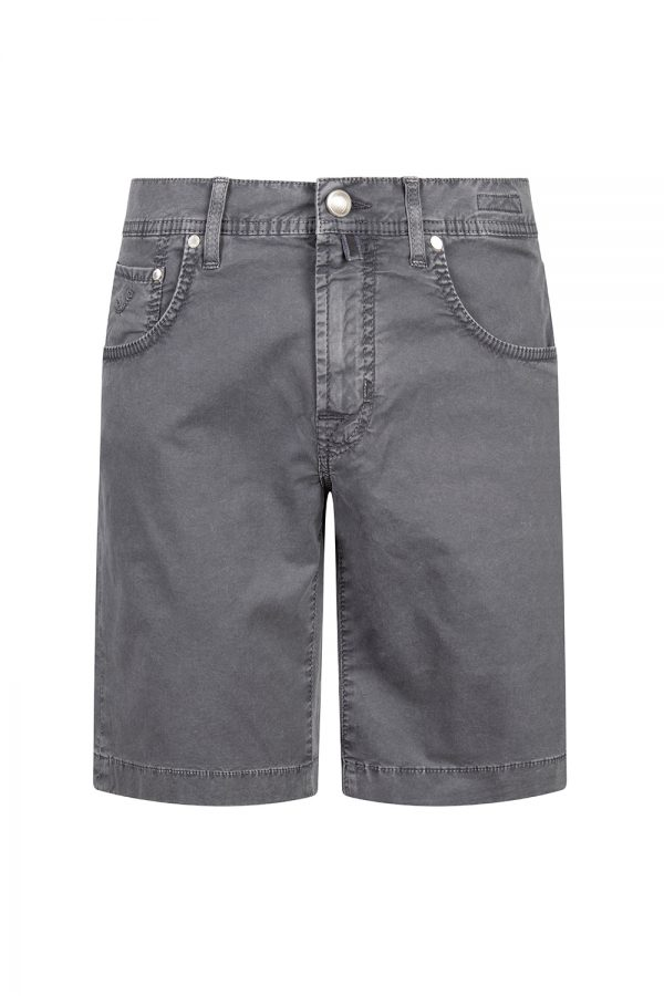 Jacob Cohën J6636 Slim Fit Men's Luxury Bermuda Shorts Dark Grey