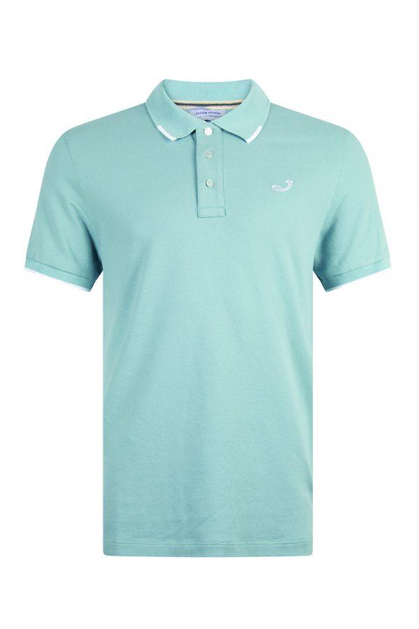 Jacob Cohën Logo Embroidery Polo Shirt Blue