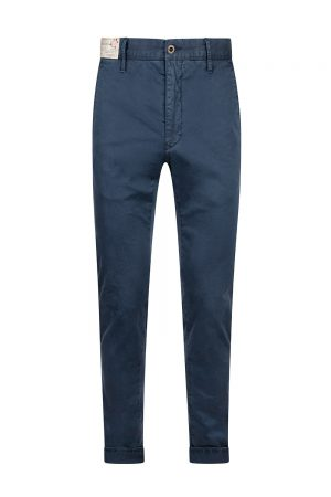 Incotex Men's Slim Fit Stretch Cotton Garbadine Trousers Navy - New S20 Collection