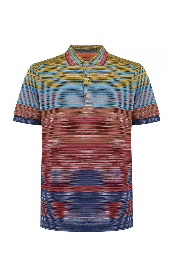 Missoni Men's Short Sleeve Polo Shirt Yellow - New W20 Collection