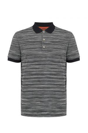 Missoni Men's Short Sleeve Polo Shirt Black/White - New W20 Collection