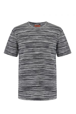 Missoni Men's Short Sleeve Cotton T-Shirt Black - New W20 Collection